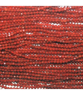 Orange Agate Faceted Round Beads 2mm.-Strand 39cm.-Item.9365