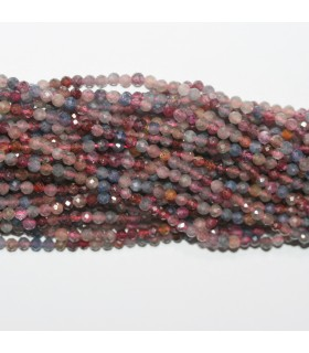 Rubi-Sapphire Faceted Round Beads 3mm.-Strand 38cm.-Item.11774