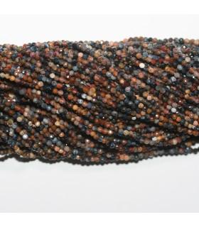 Pietersite Faceted Round Beads 2mm.-Strand 40cm.-Item.11761