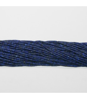 Lapis Lazuli Smooth Tube Beads 2x1mm.-Strand 37cm.-Item.11782