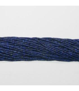 Lapis Lazuli Tubo Liso 2x1mm.-Hilo 37cm- Ref.11782