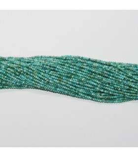 Turquoise Faceted Rondelle 1.5x1mm.-Strand 39cm.-Item.11766