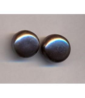 Perla Cultivada Pendiente Gris 12-12.5mm.-6 pares Ref.2212
