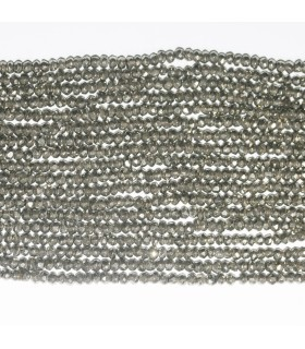 Pyrite Faceted Rondelle 2.5x1.5mm.-Strand 32cm.-Item.11822