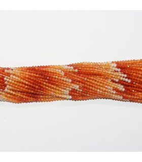 Multicolor Carnelian Faceted Rondelle 2.5x1.5mm.-Strand 32cm.-Item.11811