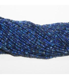 Lapis Lazuli Rodaja Facetada 2.5x1mm.-Hilo 40cm.-Ref.11772