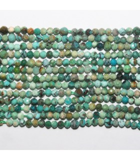 Turquoise Faceted Round Beads 3mm.-Strand. 40cm.-Item.11773