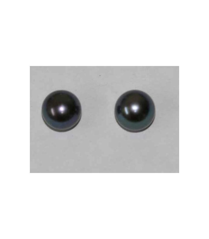 Perlas Cultivadas Gris Pendientes 9-9.50mm. 6 pares Ref.2940
