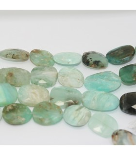 Peruvian Irregular Faceted Oval.- 15mm Approx.- Strand 21cm.- Ref: 11850