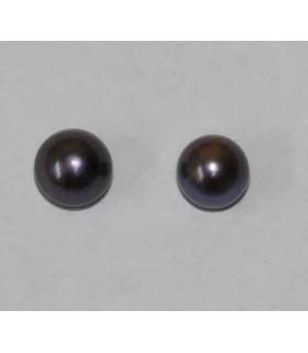 Perlas Cultivadas Gris Pendientes Gris 6-6.50mm. 6 pares Ref.2942