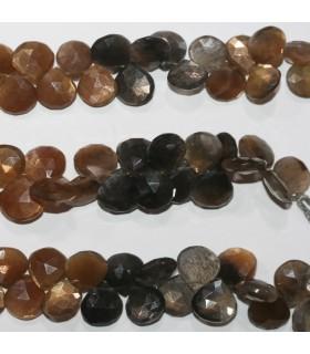 Multicolor Moonstone Faceted Drop 12-13mm.-Strand 20cm.-Item.11845