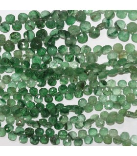Aventurine Faceted Drop 6-8mm.-Strand 19cm.-Item.11846