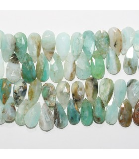 Peruvian Oval Faceted Drop Degrade 14-18mm.- Strand 21cm.- Ref: 11812