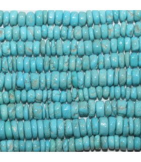 Turquoise Smooth Disk 5x3mm.Approx.- Strand 36cm.-Item.11852
