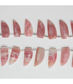 Rhodochrosite Faceted Spearhead 22x10mm.-Strand 20cm.-Item.11849