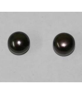 Perlas Cultivadas Pendientes Gris 10-11mm. 6 pares Ref.2939