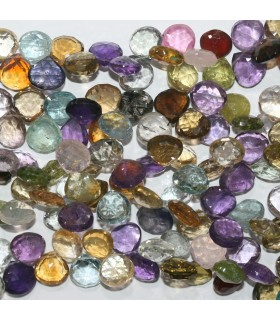 Multi Stone Faceted Drop Beads 10-11mm.-Strand 20cm.-Item.11833