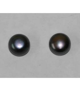 Perlas Cultivadas Pendientes Gris 8-8.50mm. 6 pares Ref.2941