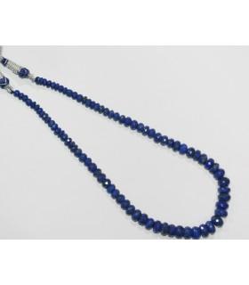 Lapis Lazuli Degrade Faceted Rondelle Necklace 10x7-5x2mm.- Ref.11855