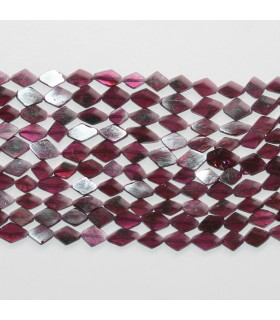 Garnet Smooth Flat Diamond 8x5mm.Approx.-Strand 35cm.-Item.11868