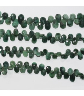 Esmerald Faceted Drop 6x8mm.Approx.- Strand 23cm.- Item.11807