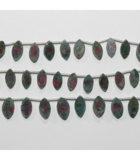 Ruby Fuchsite Smooth Marquise 11x6mm.-Strand 21cm.-Item.11806