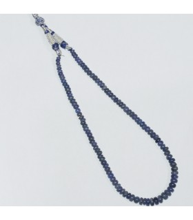 Tanzanite Graduated Smooth Rondelle Necklace 8x5- 4x2mm.-Item.11859