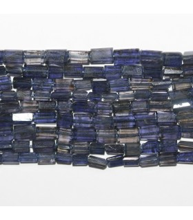 Iolite Faceted Brick Prism 6x4mm.-Strand 38cm. -Item.11876