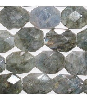 Labradorite Faceted Octagonal 38x28mm.Approx.- Strand 42cm.-Item.11736