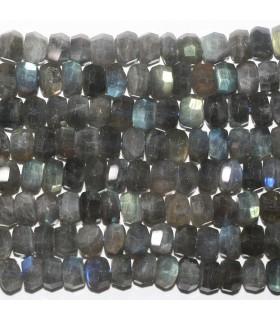 Labradorite Faceted Rondelle Beads 9x6mm.- Strand 41cm.- Item.11771