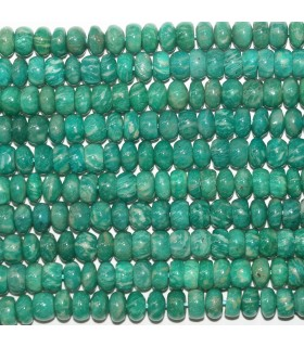Russian Amazonite Smooth Rondelle 9x5mm.- Strand 40cm.- Item.11748
