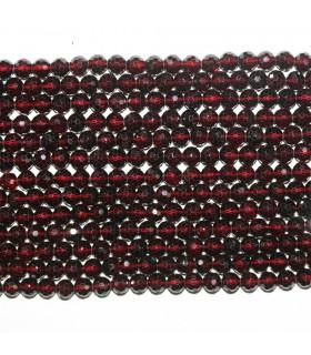 Garnet Faceted Round Beads 5mm.-Strand 38cm.-Item.11701