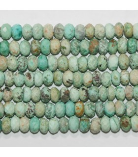 Turquoise Faceted Rondelle 7x4mm.-Strand 41cm.-Item.11704