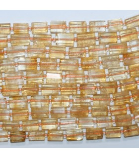 Citrine Faceted Barrel 13x8mm.Approx.-Strand 40cm.-Item.11708