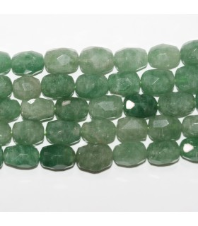 Aventurine Faceted Nugget 19x13mm.Approx.-Strand 38cm.-Item.11711