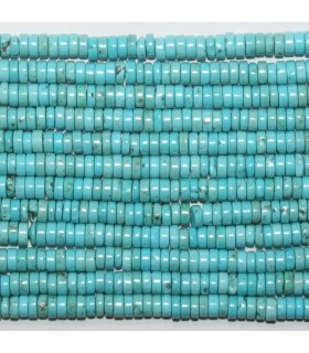 Turquoise Smooth Rondelle 4x2mm.-Strand 40cm.-Item.11713