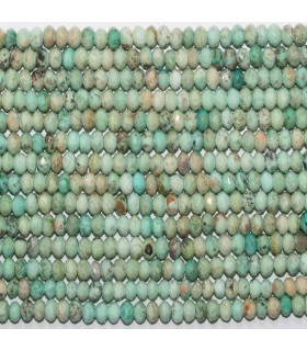 Turquoise Faceted Rondelle 6x3mm.-Strand 41cm.-Item.11715