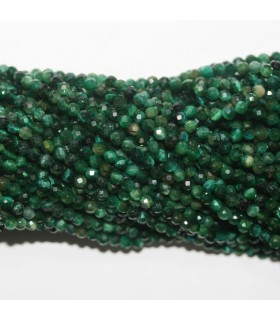 Green Tiger Eye Faceted Round Beads 3mm.-Strand 40cm.-Item.11719