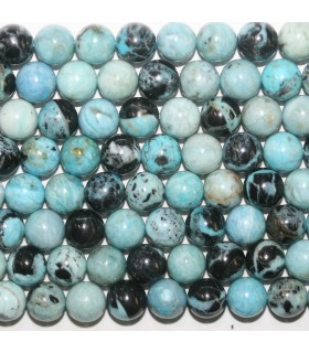 Blue Opal Round Beads 10mm- Strand 40cm.-Item.11723