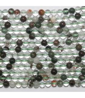Lepidolite Quartz Round Beads 4mm.-Strand 40cm.-Item.11739