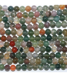 Indian Agate Round Beads 6mm.-Strand 39cm.-Item.11740