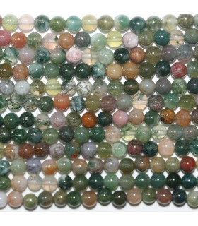 Indian Agate Round Beads 4mm.-Strand 39cm.-Item.11741