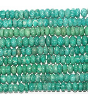 Russian Amazonite Smooth Rondelle 12x6mm.- Strand 39cm.- Item.11747