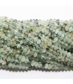 Prehnite Faceted Rondelle 4x2mm.- Strand 39cm.- Item.11770