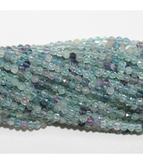 Fluorite Faceted Round Beads 4mm.- Strand 40cm.- Item.11775