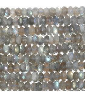 Labradorite Faceted Rondelle 7x4mm.- Strand 40cm.- Item.11784