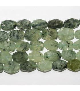 Prehnite Faceted Nugget Beads 20x15mm.Approx.- Strand 38cm.- Item.11789