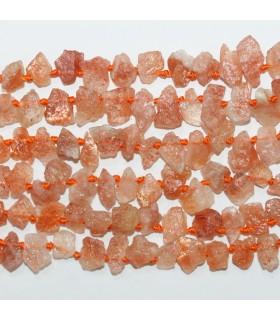 Piedra Sol Nugget Sin Pulir 6-9mm.- Hilo 42cm.- Ref.11809