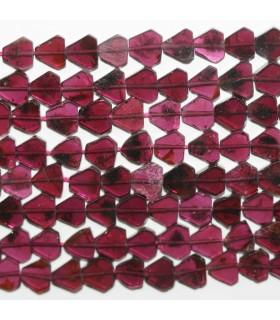 Garnet Smooth Flat Drop Beads 5-6mm.- Strand 35cm- Item.11867