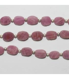 Pink Sapphire Smooth Flat Oval 7x6mm.-Strand 21cm.- Item.11884